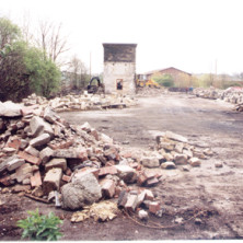 The cleared site