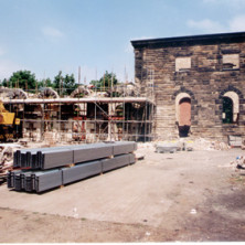 Construction on the arches