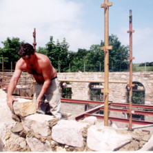 Work on the buildings
