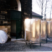 A nice shot of the racking backs as they were delivered on a cold January day in 1997